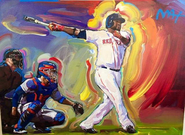 David Ortiz painting by Peter Max