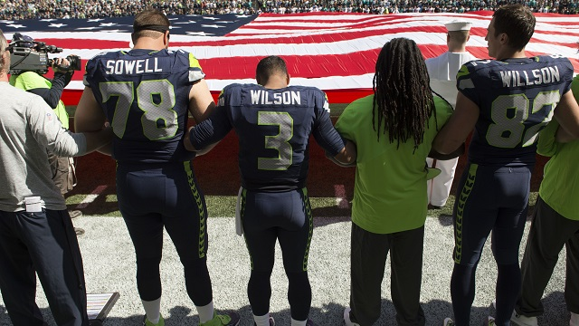 Russell Wilson, Seahawks protest