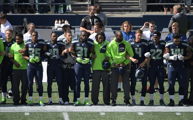 Seahawks protest