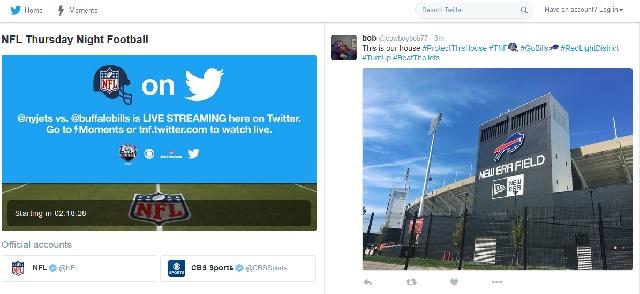 Twitter NFL live stream