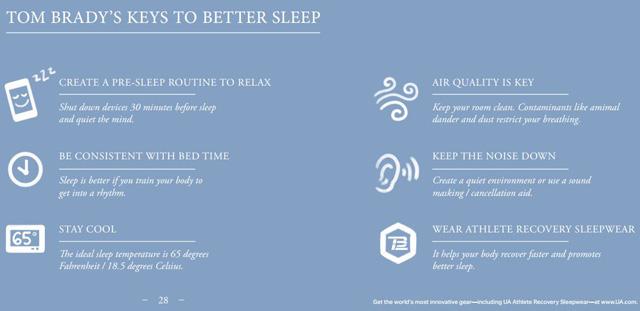 Tom Brady's sleep tips
