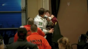 AHL Fight Spills Off Ice Into Locker-Room Area, Ends With Brutal Knockdown Punch