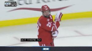 Watch Bruins Prospect Jakob Forsbacka Karlsson Score In Beanpot Semifinal