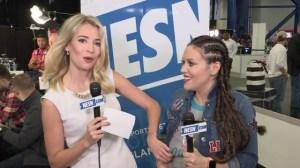 Alyssa Milano Shows Off Exclusive 'Touch' Apparel For Super Bowl LI