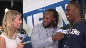 Aaron Jones, Jamaal Williams Get Hyped To See Tyrod Taylor On Radio Row