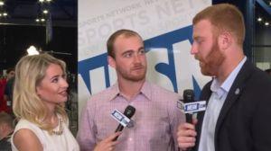 NFL Draft Prospects Dane Evans, Cooper Rush Seek QB Advice At Radio Row