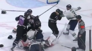 Minor-League Hockey Fight Escalates Into Mass Brawl During ECHL Playoffs
