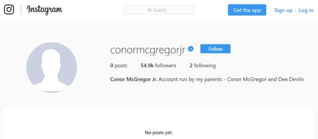 Conor McGregor son