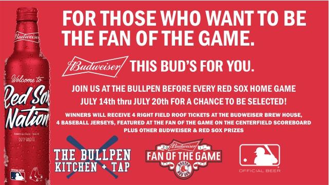 Budweiser Bullpen promo