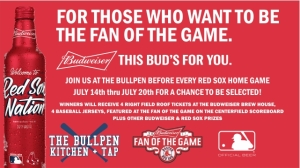 Visit The Bullpen During This Red Sox Homestand For Chance To Win Budweiser Fan Of The Game