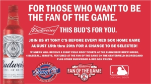 Visit Tony C's This Red Sox Homestand For Shot At Budweiser Fan Of The Game