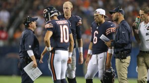 While You Were Sleeping: Is A Quarterback Controversy Brewing In Chicago?