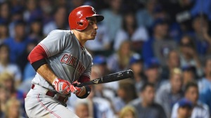 While You Were Sleeping: Joey Votto Hits Double Against Cubs' Four Outfielders