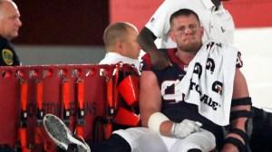 Texans' J.J. Watt Apologizes To Houston After Season-Ending Leg Injury