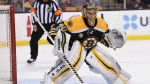 Bruins' Tuukka Rask Denies Kings' Andy Andreoff On Point-Blank Chance