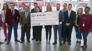NESN Connects And Lexus Visit The Greater Boston Food Bank