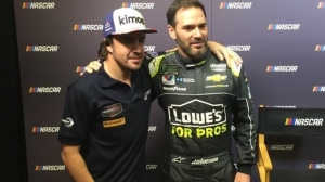 Jimmie Johnson, Fernando Alonso Share Fanboy Moment At Charlotte Media Day