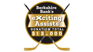 Berkshire Bank Foundation To Donate $100 For Each Bruins Assist To Bridge Over Troubled Waters