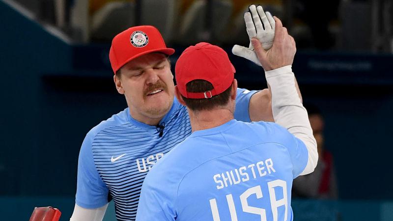 Team USA curlers Matt Hamilton and John Shuster