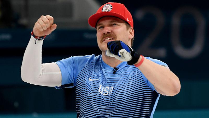 USA curler Matt Hamilton