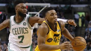 Jaylen Brown, Donovan Mitchell Can't Leave Each Other Alone At NBA Bubble