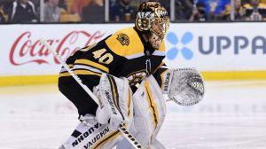 Bruins Goalie Tuukka Rask Makes Big Save On Alex DeBrincat In First Period
