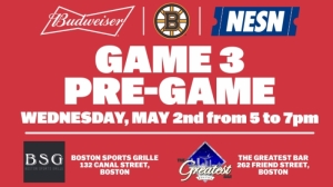 Boston Sports Grille, The Greatest Bar To Host Bruins-Lightning Game 3 Budweiser Pregame Parties