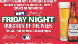 Head To Garcia Brogan's For Red Sox Vs. Astros, Budweiser Question Of The Week