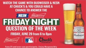 Head To Chuck's Steak House For Red Sox Vs. Yankees, Budweiser Question Of The Week