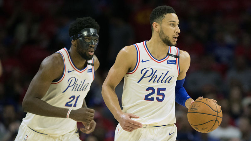 Philadelphia 76ers forward Joel Embiid and guard Ben Simmons