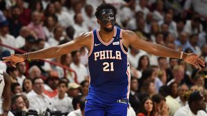 Sixers' Joel Embiid Is Largest Human To Ever Wear Hazmat Suit, Probably