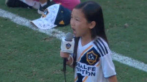 Child Singer Crushes National Anthem At Sounders Vs. LA Galaxy MLS Game