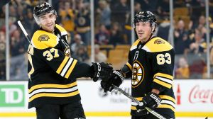Bruins' Patrice Bergeron Scores Two Goals In First Game Back From Injury
