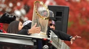 World Series Trophy Repaired From Damage Suffered At Red Sox Parade