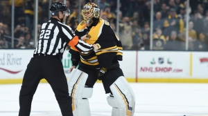 Brawl (Jokingly) Breaks Out, Tuukka Rask Destroys Stick During Bruins Practice