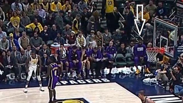 LeBron James Sitting Alone On Lakers