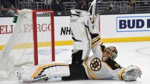 Tuukka Rask Goes Old-School Hockey With Pad-Stack Save Vs. Kings