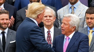 Donald Trump Reportedly Watched Super Bowl With Founder Of Spa Linked To Robert Kraft