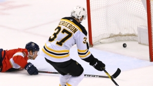 Patrice Bergeron Sharp In Bruins' Playoff Berth-Clinching Win Vs. Panthers