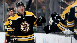 Bruins' Brad Marchand Sets Up Patrice Bergeron's Power Play Goal