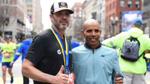 Here's What Jimmie Johnson Had To Say After Impressive Boston Marathon Finish