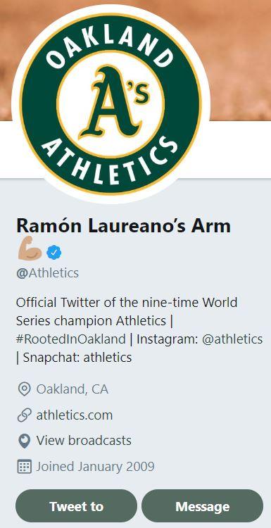 Oakland Athletics Twitter