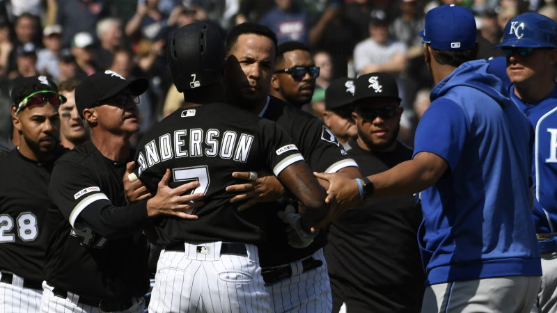 Surprising Tim Andersons Savage Bat Flip Leads To Heated Bench Onthecornerstone Fun Painted Chair Ideas Images Onthecornerstoneorg