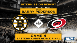 NESN Bruins Intermission Report: Barry Pederson Breaks Down Second Period