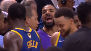 Drake, Draymond Green Exchange Words After Game 1; Just Don't Call It 'A Tussle'