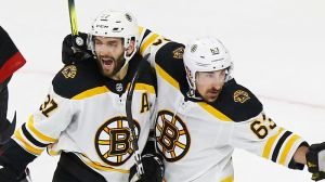 Watch Patrice Bergeron, Brad Marchand Score Back-To-Back Goals In 57 Seconds