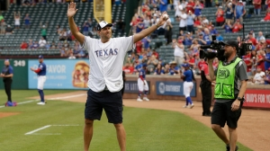 Watch Retired Mavericks Star Dirk Nowitzki Take Batting Practice