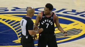 NBA Fines, Bans Warriors' Mark Stevens For Shoving Raptors' Kyle Lowry