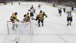Brad Marchand Explains What Happened On Bad Shift Change Before Blues' Second Goal