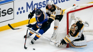 Bruce Cassidy Applauds Bruins' Penalty Kill In 7-2 Victory Over Blues